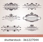 calligraphic design elements.  | Shutterstock .eps vector #361227044