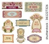 Ornate Vintage Labels In Style...