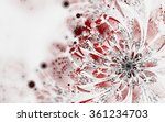 Abstract Fractal Flower Bloom...