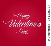happy valentine's day vector | Shutterstock .eps vector #361236734