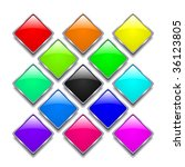 set of colourful badges | Shutterstock . vector #36123805