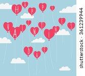 valentine's day vector...   Shutterstock .eps vector #361239944