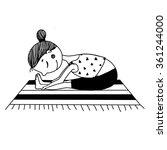 girl training yoga | Shutterstock . vector #361244000
