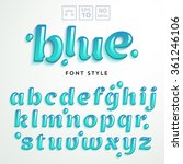 vector letters made of blue... | Shutterstock .eps vector #361246106