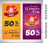 woman day vertical banners set. ... | Shutterstock .eps vector #361246163