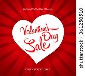 valentine's day sale | Shutterstock .eps vector #361250510