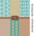 lace ornament pattern set.... | Shutterstock .eps vector #361254116