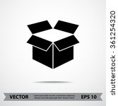 box sign icons  vector... | Shutterstock .eps vector #361254320