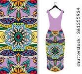 vector fashion illustration.... | Shutterstock .eps vector #361255934