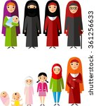 all age group of arab woman... | Shutterstock .eps vector #361256633