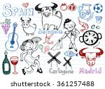 spain doodles collection | Shutterstock .eps vector #361257488