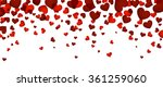 romantic background with red... | Shutterstock .eps vector #361259060