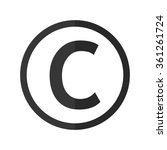 copyright symbol    vector icon | Shutterstock .eps vector #361261724
