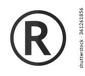 registered trademark    vector... | Shutterstock .eps vector #361261856