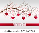 valentine's day with cut out... | Shutterstock .eps vector #361263749