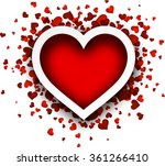 valentine's love card with red... | Shutterstock .eps vector #361266410