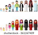 all age group of arab family.... | Shutterstock .eps vector #361267409