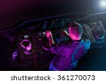 charismatic disc jockey at the... | Shutterstock . vector #361270073