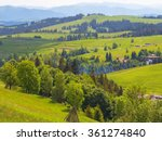 peaceful mountain village... | Shutterstock . vector #361274840