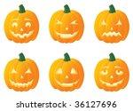 jack o'lanterns for halloween ... | Shutterstock .eps vector #36127696