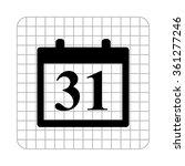 calendar    black vector icon | Shutterstock .eps vector #361277246