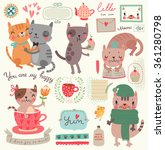 a set of illustrations with... | Shutterstock .eps vector #361280798