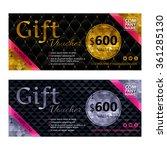 gift voucher template set with... | Shutterstock .eps vector #361285130