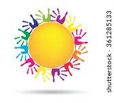 vector concept conceptual... | Shutterstock .eps vector #361285133