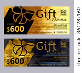 gift voucher template set with...