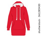 raster illustration red unisex... | Shutterstock . vector #361285430
