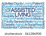 assisted living word cloud on... | Shutterstock . vector #361286900