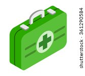 first aid kit 3d isometric icon ...