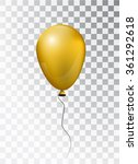 balloon white on transparent... | Shutterstock .eps vector #361292618