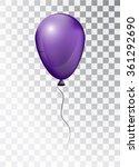 Balloon White On Transparent...