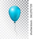 balloon white on transparent... | Shutterstock .eps vector #361292720