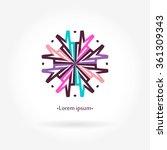 logo for flower shop  interior. ...   Shutterstock .eps vector #361309343