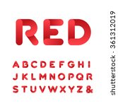 rounded font. vector alphabet... | Shutterstock .eps vector #361312019