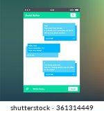 vector illustration of chat box.... | Shutterstock .eps vector #361314449