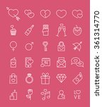 set of minimalistic line... | Shutterstock .eps vector #361314770