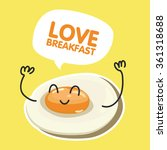 fried egg with balloon card...   Shutterstock .eps vector #361318688