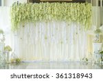 wedding backdrop with flower... | Shutterstock . vector #361318943