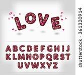 valentine day dark chocolate... | Shutterstock .eps vector #361320914