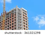crane and building construction ... | Shutterstock . vector #361321298