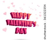 happy valentine's day label ...   Shutterstock .eps vector #361322354