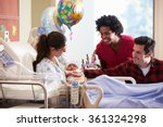 family and nurse with new born... | Shutterstock . vector #361324298