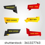 vector stickers  price tag ... | Shutterstock .eps vector #361327763