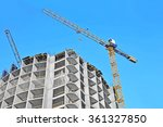 crane and building construction ... | Shutterstock . vector #361327850