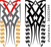 tribal car decal   vinyl ready... | Shutterstock .eps vector #361332344