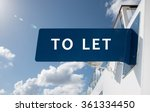Real Estate To Let Sign.
