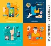 smart technology set for... | Shutterstock .eps vector #361336124